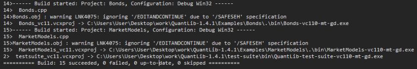 Quantlib build C++